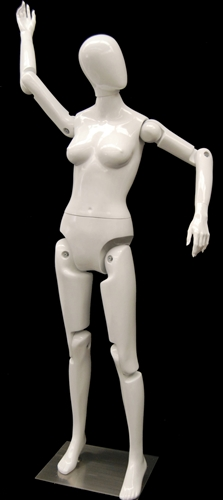 Posable Female Mannequin In White